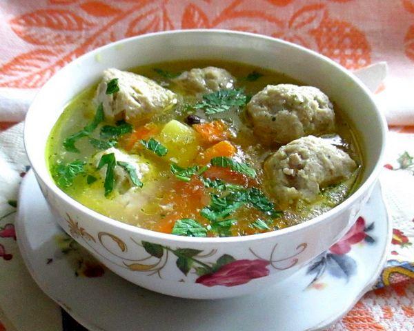 Суп из фрикаделек пошаговый рецепт с рисом