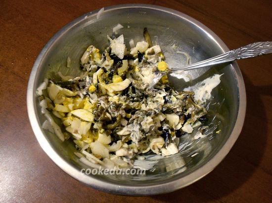 салат из баклажан с яйцом и луком с майонезом фото рецепт пошаговый
