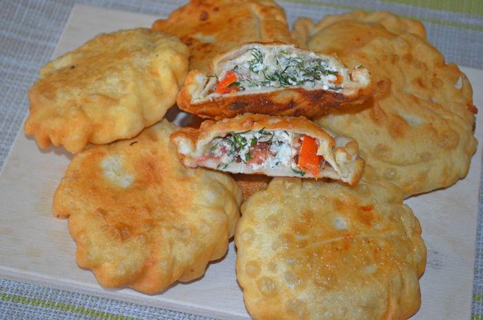 пирожки - бомбочки с творогом и помидорами - пошаговый рецепт