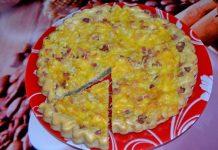 пирог с беконом и сыром - пошаговый рецепт