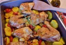 бедро курицы на сковороде