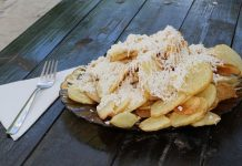Жареная картошка с сыром