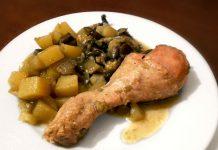 куриные ножки с овощами - пошаговый рецепт