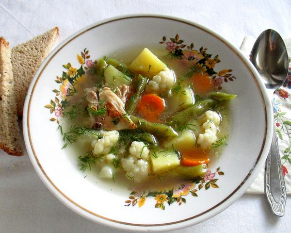 куриный суп с цветной капустой - пошаговый рецепт