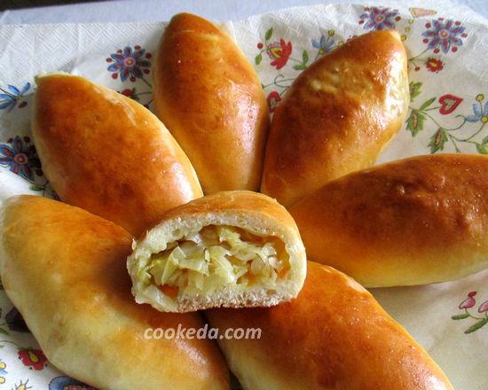 пирожки с свежей капустой
