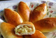 Печеные пирожки с капустой - пошаговый рецепт