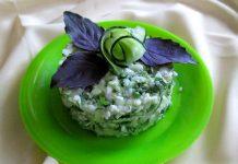 салат из цветной капусты и огурцов - пошаговый рецепт
