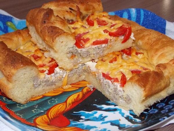 Пироги с мясом из дрожжевого теста рецепты из фарша