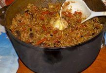 Плов из баранины в казане - пошаговый рецепт