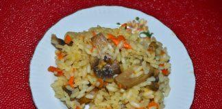 рис с шампиньонами - пошаговый рецепт