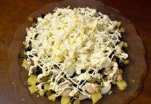 салат с жареной курицей - пошаговый рецепт