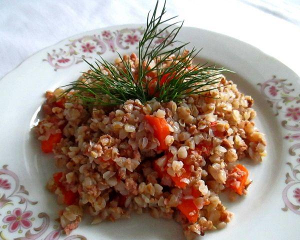 гречка с фаршем в мультиварке - пошаговый рецепт