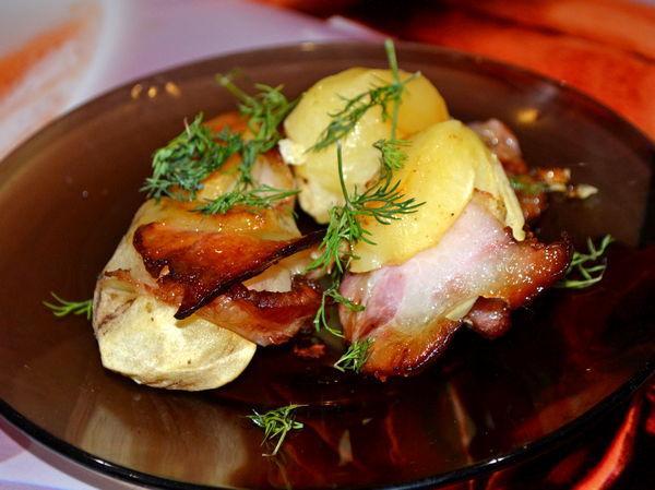картошка с беконом в духовке - пошаговый рецепт