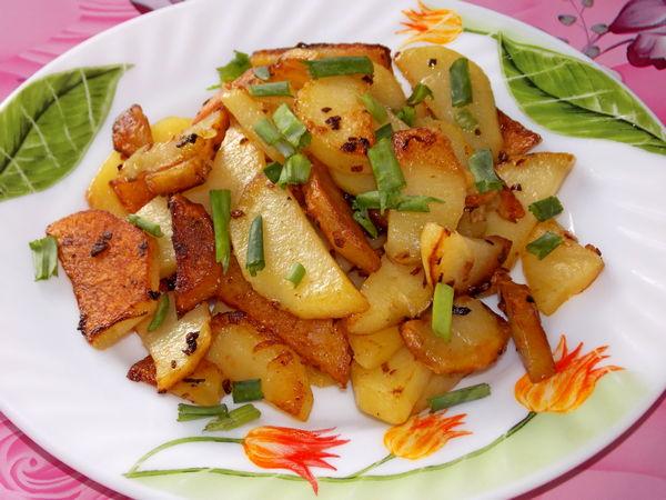 Картошка жареная с луком - пошаговый рецепт
