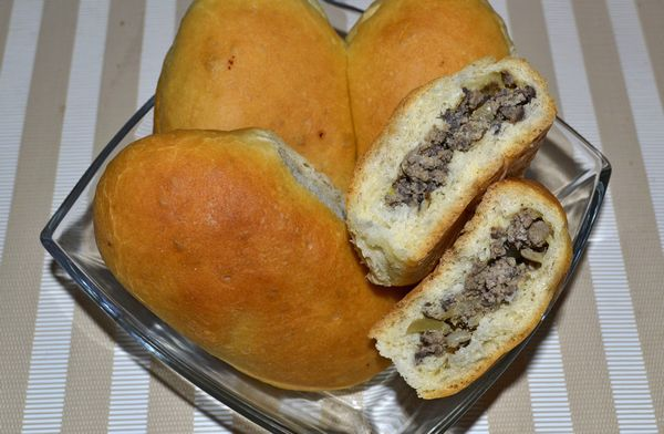 Пирожки с печенью в духовке пошаговый рецепт