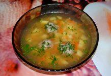 Рисовый суп с фрикадельками - пошаговый рецепт