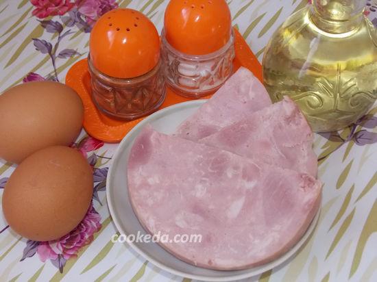 Яичница с колбасой на завтрак
