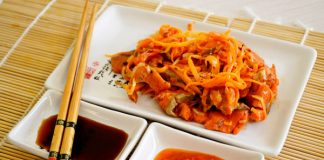 Хе из красной рыбы по-корейски - пошаговый рецепт