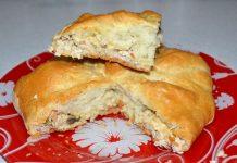 Дрожжевой пирог с курицей и сыром - пошаговый рецепт