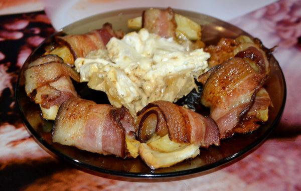 рулеты из бекона с картофелем и сыром - пошаговый рецепт