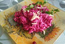 салат из свеклы с яблоками и сыром пошаговый рецепт