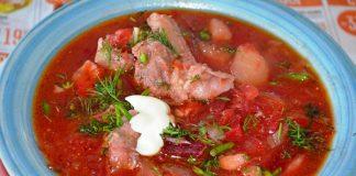 красный борщ со свеклой и томатной пастой - рецепт с фото