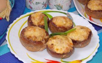 Фаршированные шампиньоны в духовке с сыром - пошаговый рецепт с фото