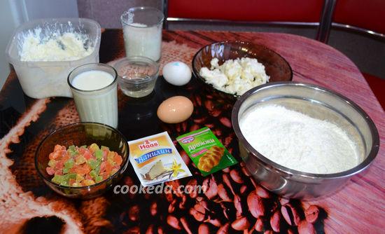 Кулич творожный пасхальный - ингредиенты