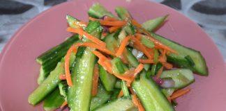 Салат из битых огурцов - пошаговый рецепт