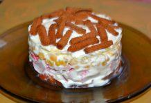 Салат Коррида с крабовыми палочками - пошаговый рецепт