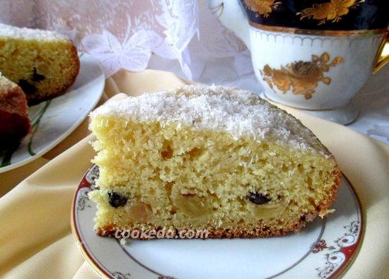 Пирог на кефире с манкой