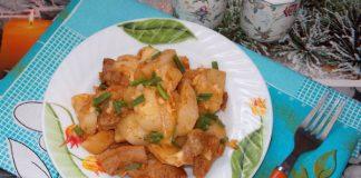 картошка со свининой в мультиварке - пошаговый рецепт