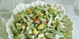 Салат с щавелем помидорами и яйцом - рецепт с фото