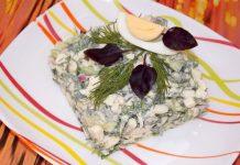 Овощной салат с сыром и яйцом - рецепт