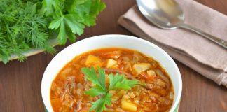 Щи из капусты с тушенкой - пошаговый рецепт