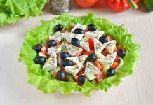 Греческий салат с сыром фета - рецепт