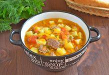 Суп с картошкой и тушенкой - рецепт с фото