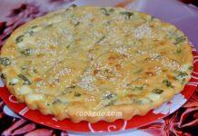 Заливной пирог с сыром и зеленью - рецепт