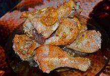 куриные голени в соусе в духовке