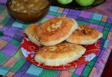 Пирожки на кефире с яблочным вареньем - рецепт