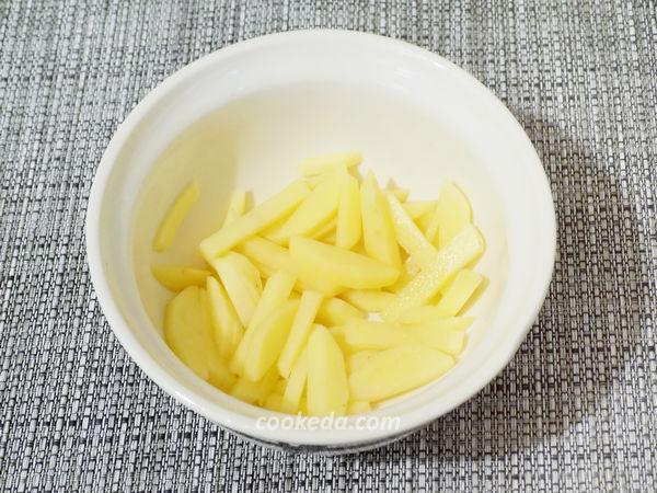 Картошка запеченная с грибами и сыром в духовке