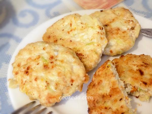 куриные котлеты с кабачком -рецепт
