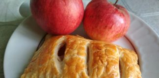 Слойки с яблоками из готового слоеного теста