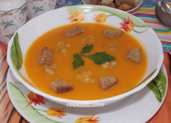 суп-пюре из овощей с фрикадельками - рецепт