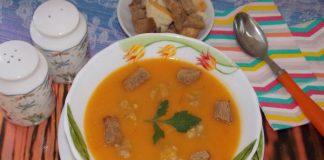 суп-пюре из овощей с фрикадельками