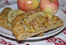 Постная галета с яблоками