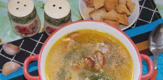 сырный суп с колбасой - рецепт