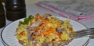Салат из черной редьки с мясом - рецепт