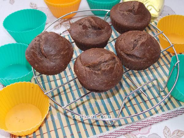 Шоколадно-банановые кексы без яиц - рецепт
