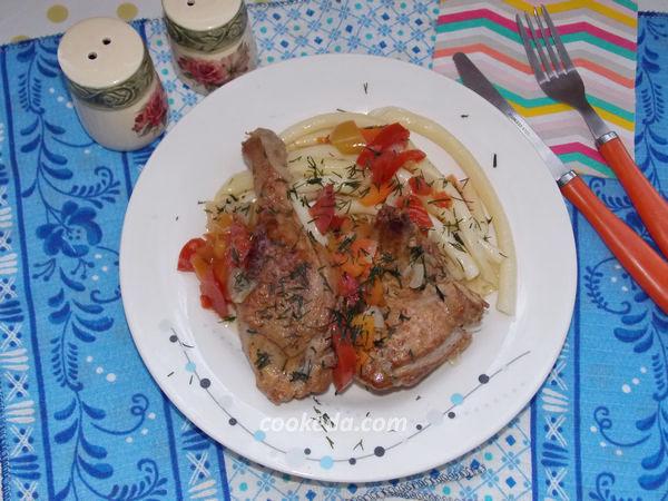 Тушеная утка с овощами - рецепт